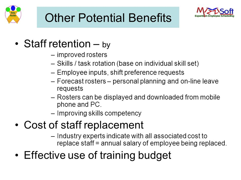 Other Potential Benefits