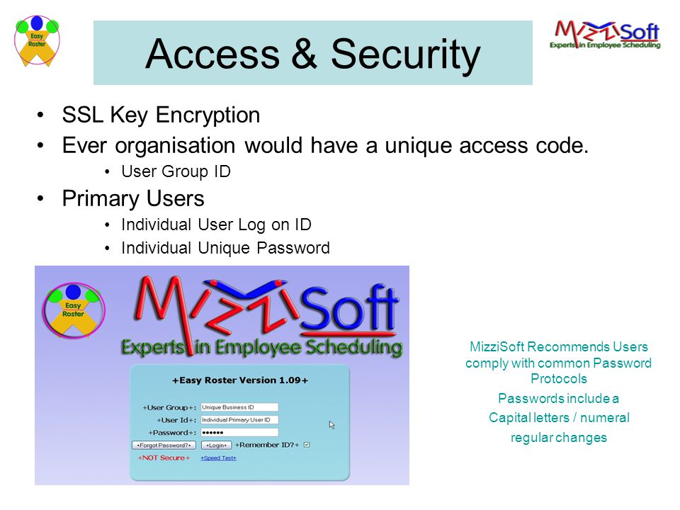 Access & Security SSL Key Encryption