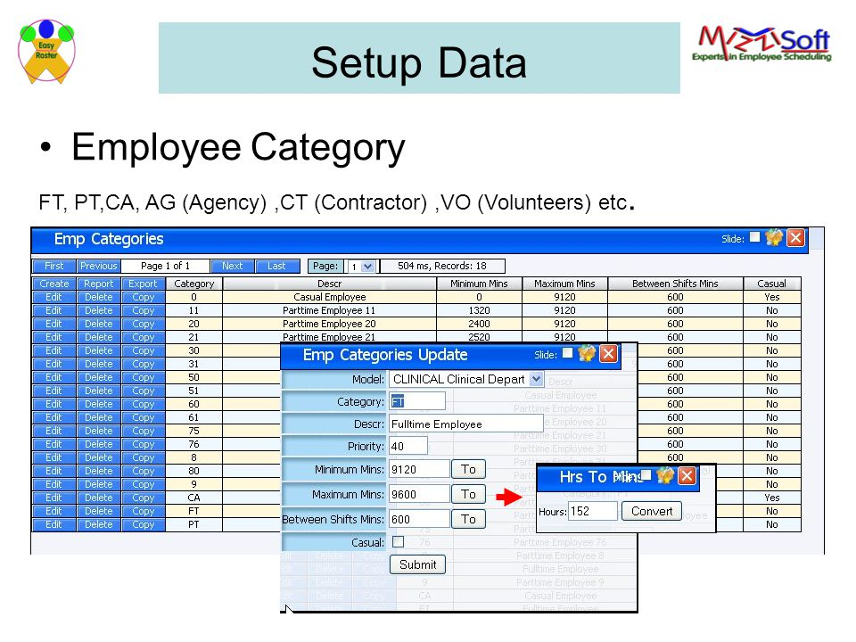 Setup Data Employee Category