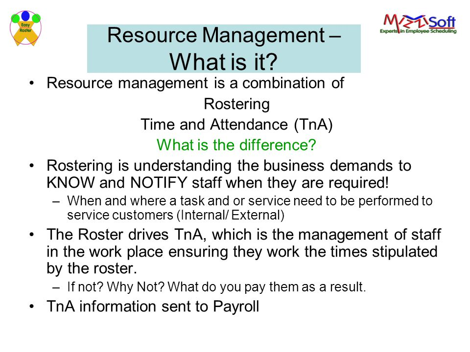 Resource Management – What is it