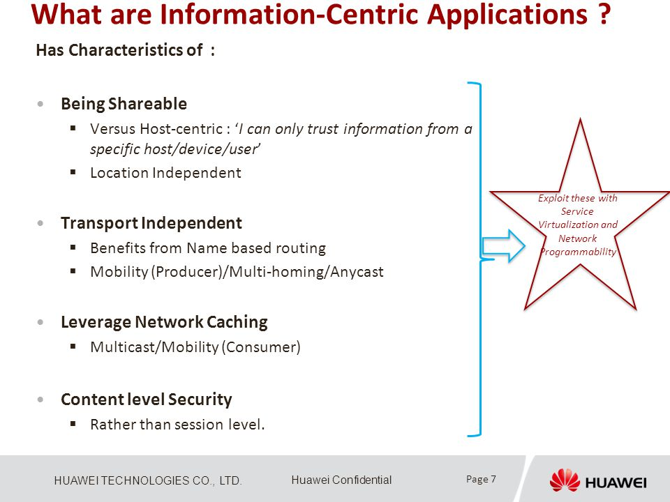 What are Information-Centric Applications
