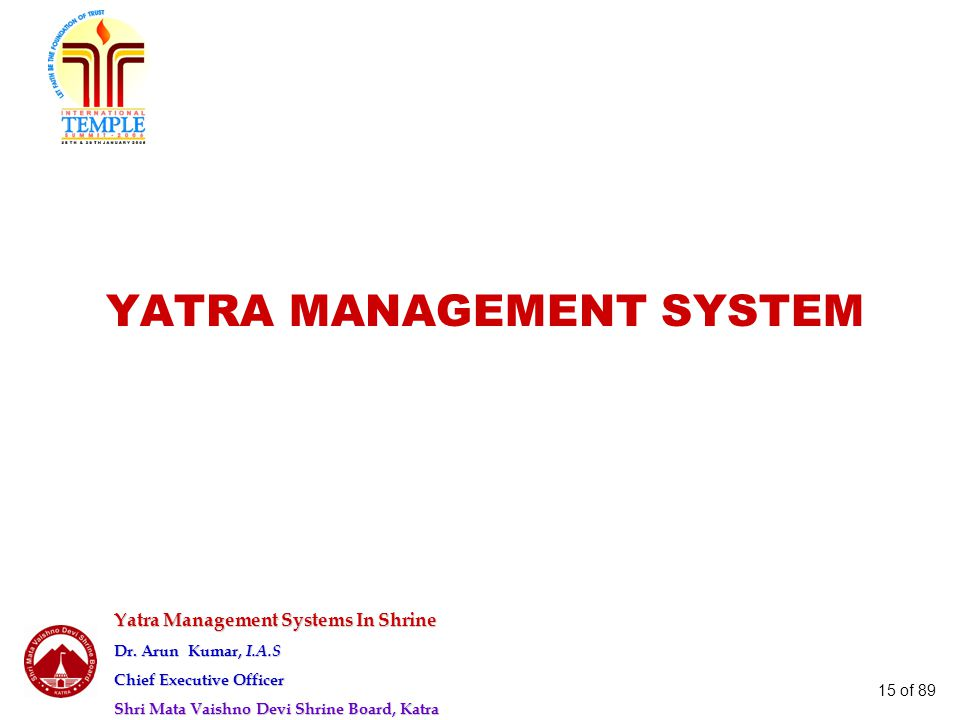 YATRA MANAGEMENT SYSTEM