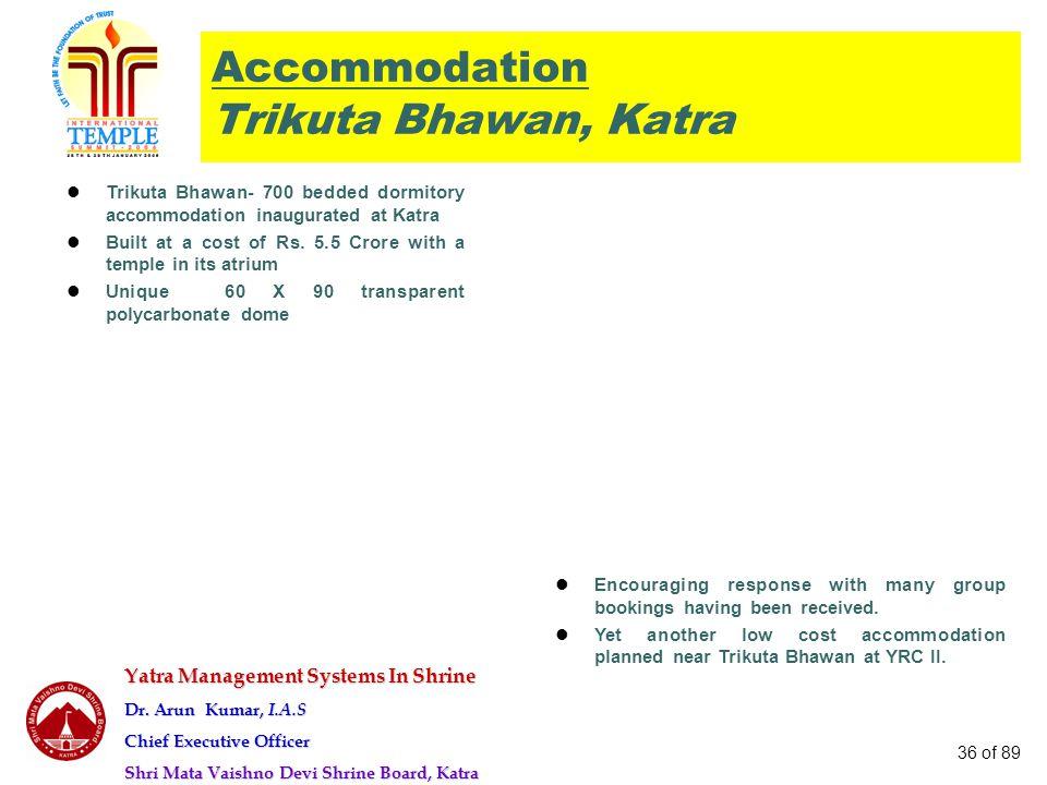 Accommodation Trikuta Bhawan, Katra