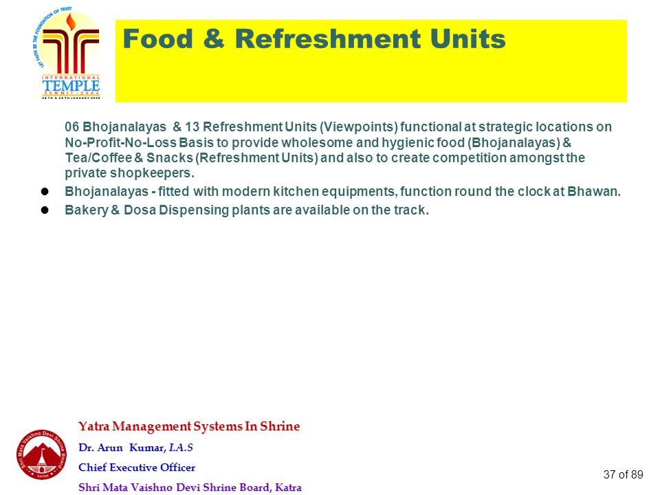 Food & Refreshment Units