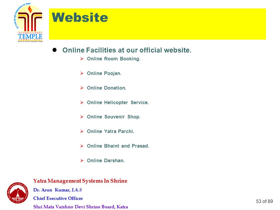 Website Online Facilities at our official website.