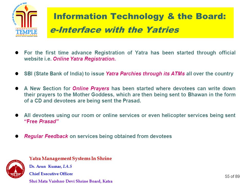 Information Technology & the Board: e-Interface with the Yatries