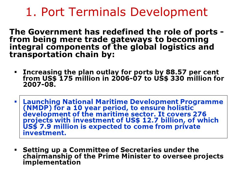 1. Port Terminals Development