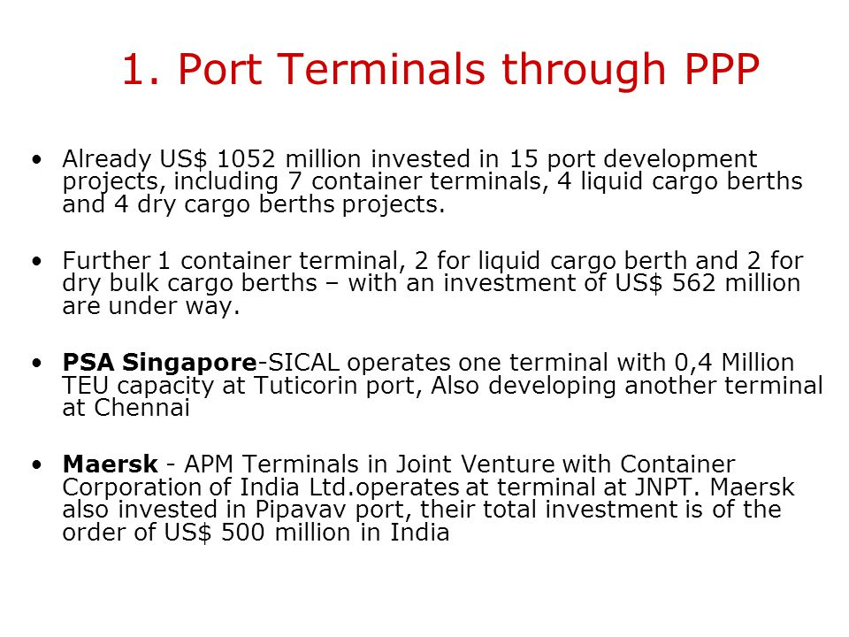 1. Port Terminals through PPP