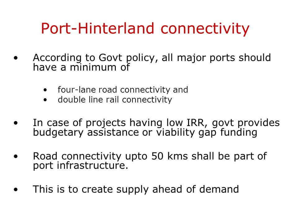 Port-Hinterland connectivity