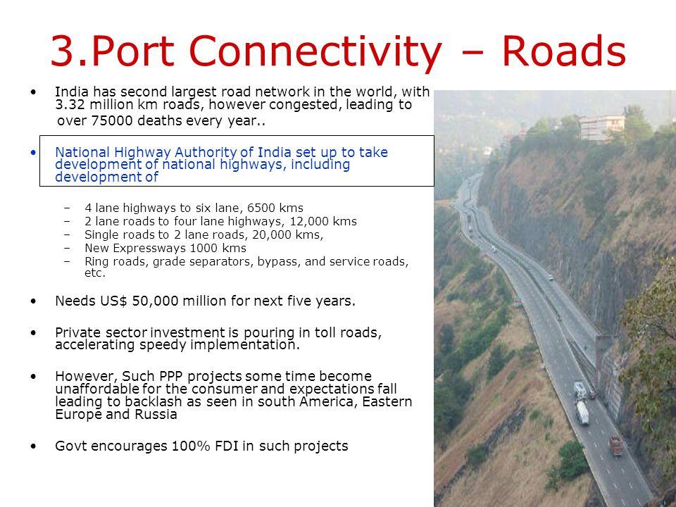 3.Port Connectivity – Roads