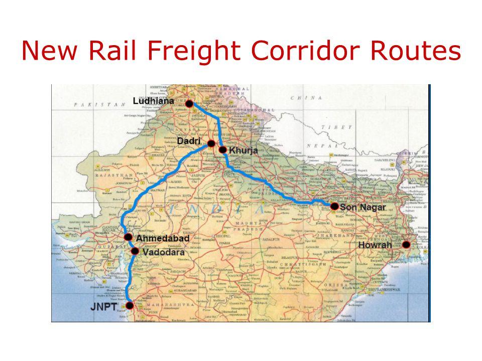 New Rail Freight Corridor Routes
