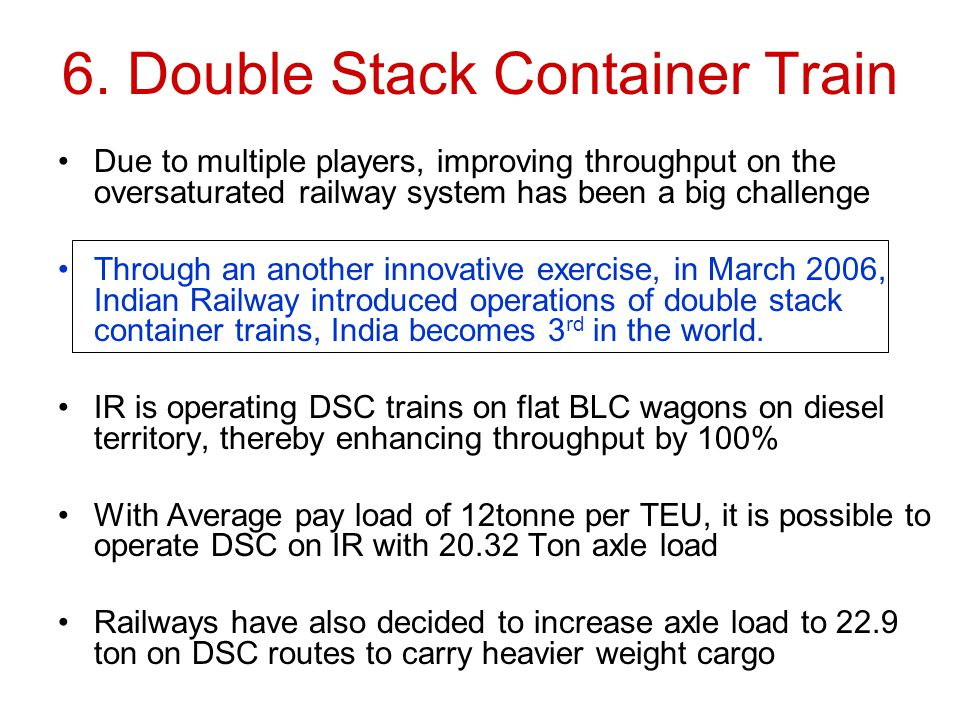 6. Double Stack Container Train