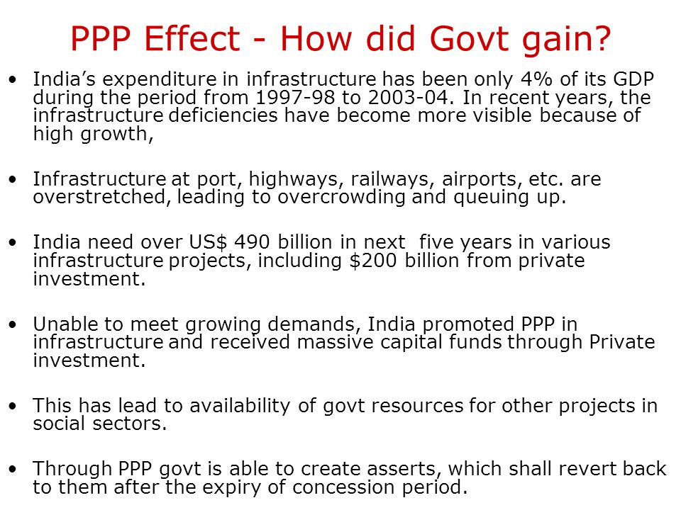 PPP Effect - How did Govt gain