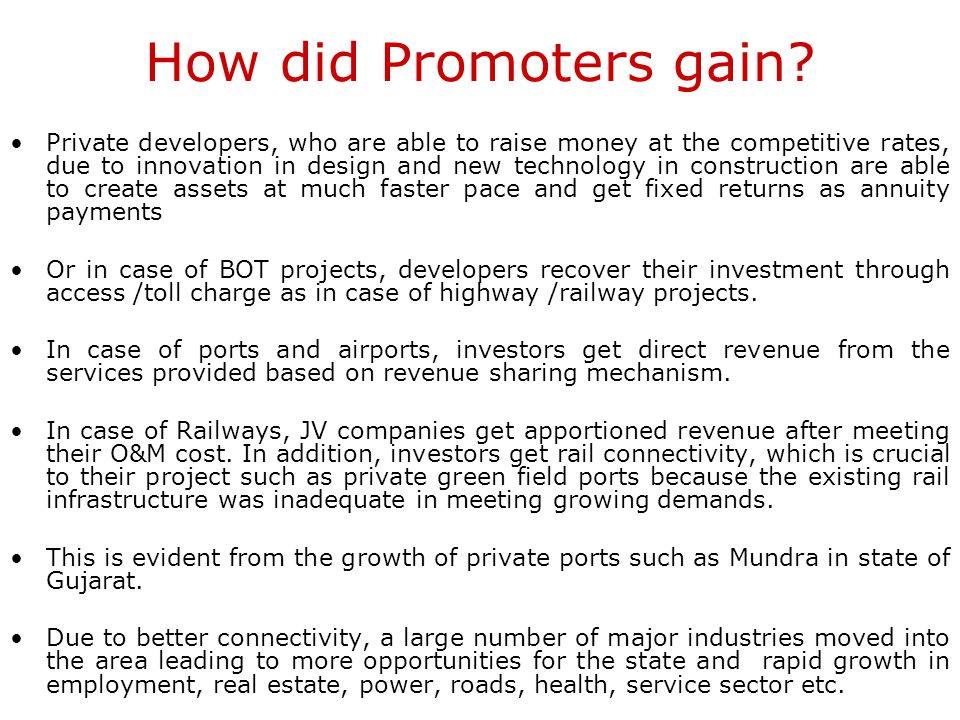 How did Promoters gain