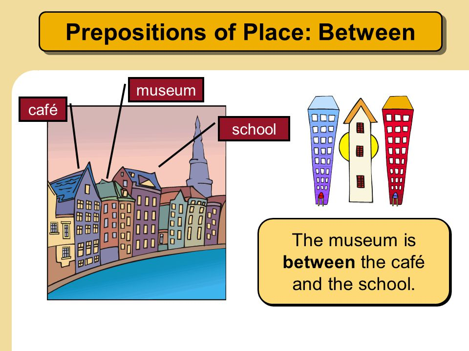Prepositions of Place: Between