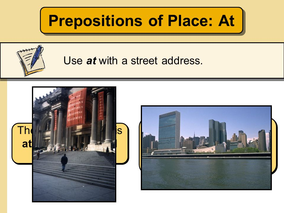 Prepositions of Place: At