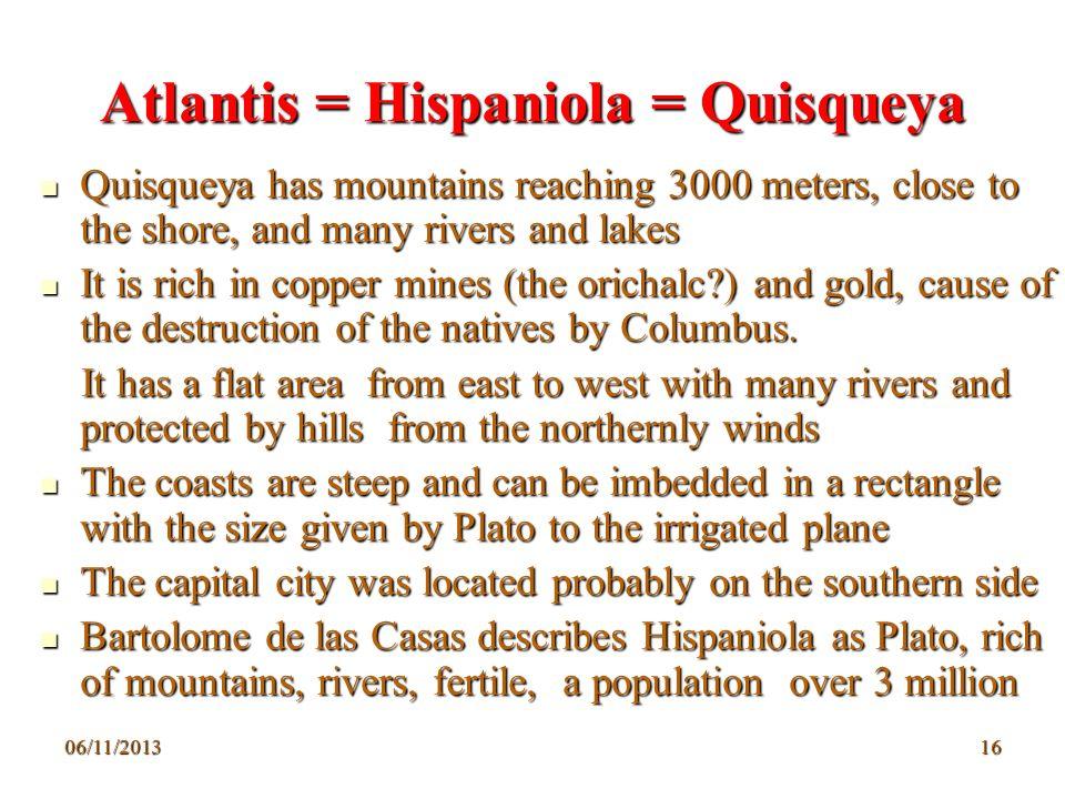 Atlantis = Hispaniola = Quisqueya