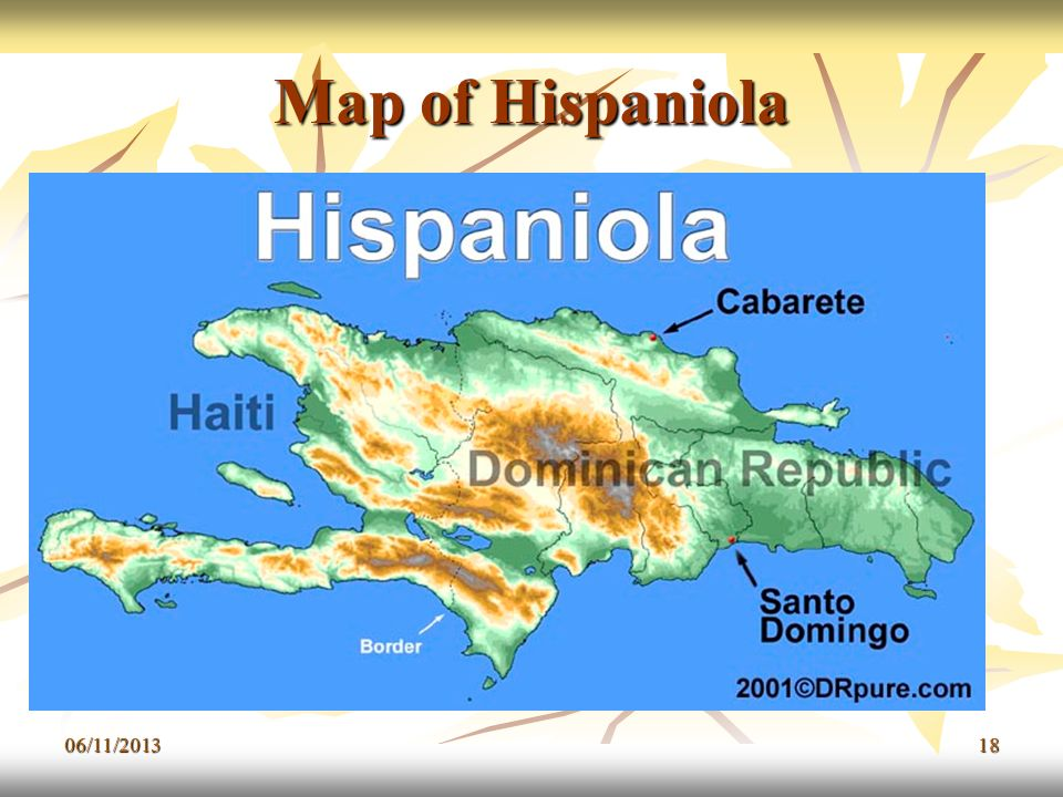 Map of Hispaniola 23/03/2017
