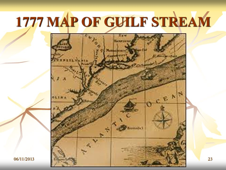 1777 MAP OF GUILF STREAM 23/03/2017