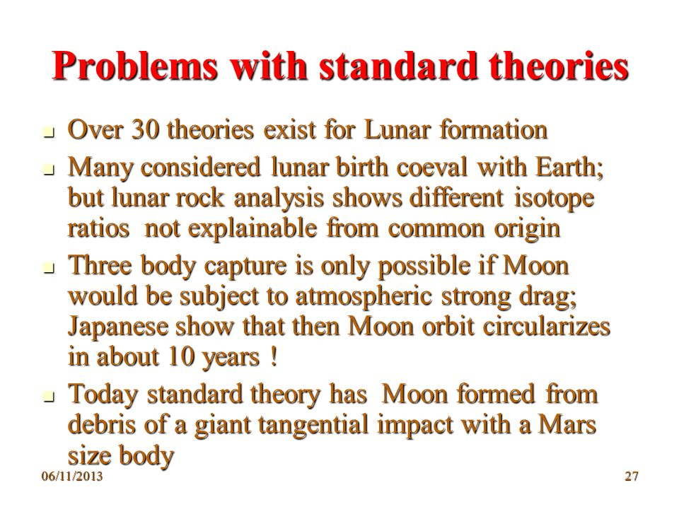 Problems with standard theories
