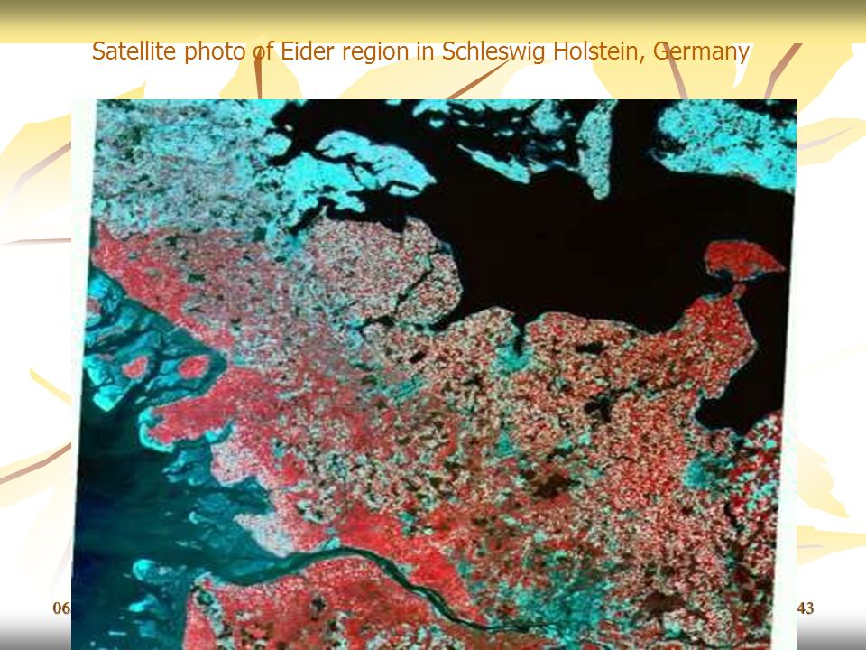 Satellite photo of Eider region in Schleswig Holstein, Germany