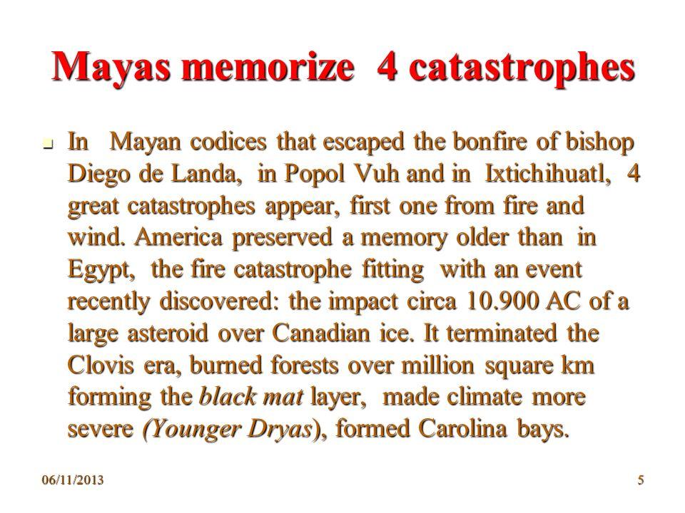Mayas memorize 4 catastrophes