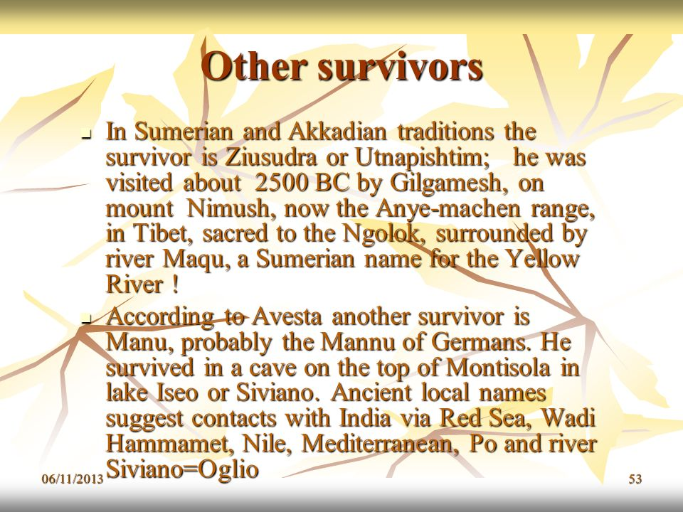 Other survivors