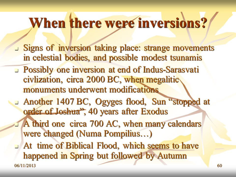 When there were inversions