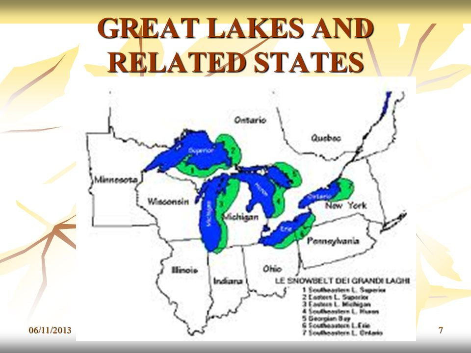 GREAT LAKES AND RELATED STATES