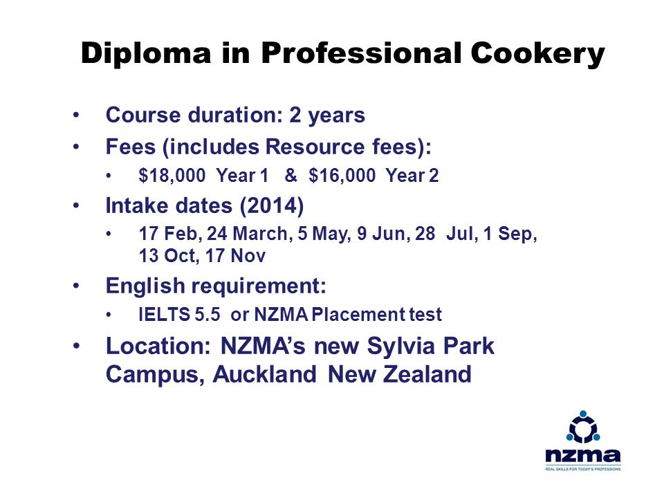 Diploma in Professional Cookery