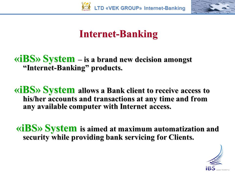 LTD «VEK GROUP» Internet-Banking