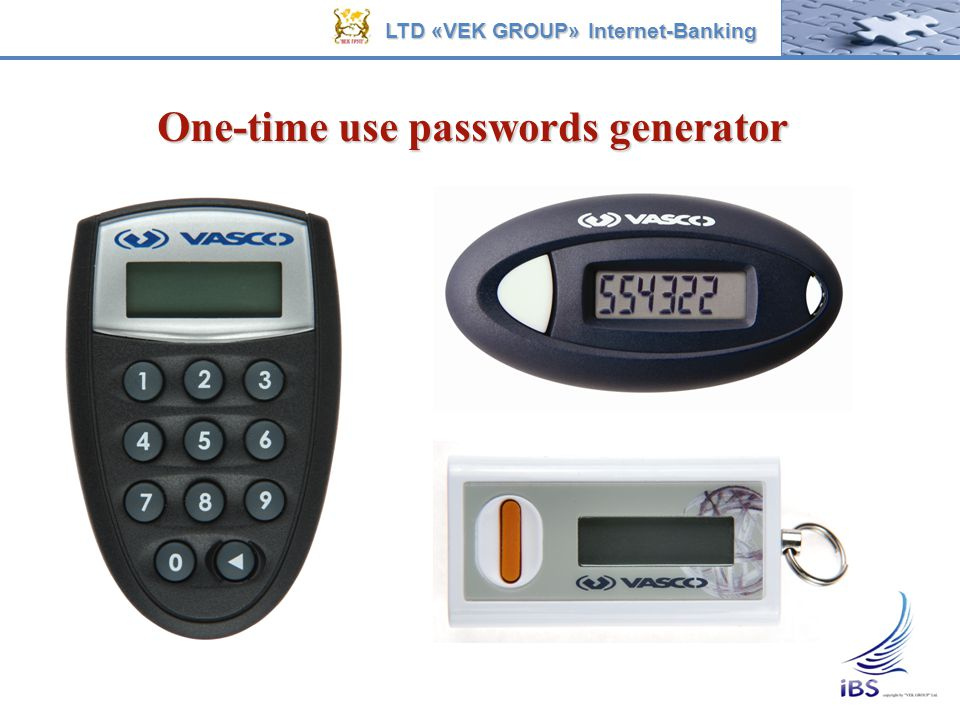One-time use passwords generator