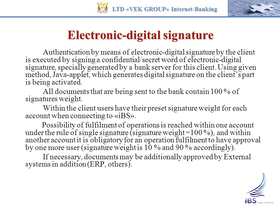 Electronic-digital signature