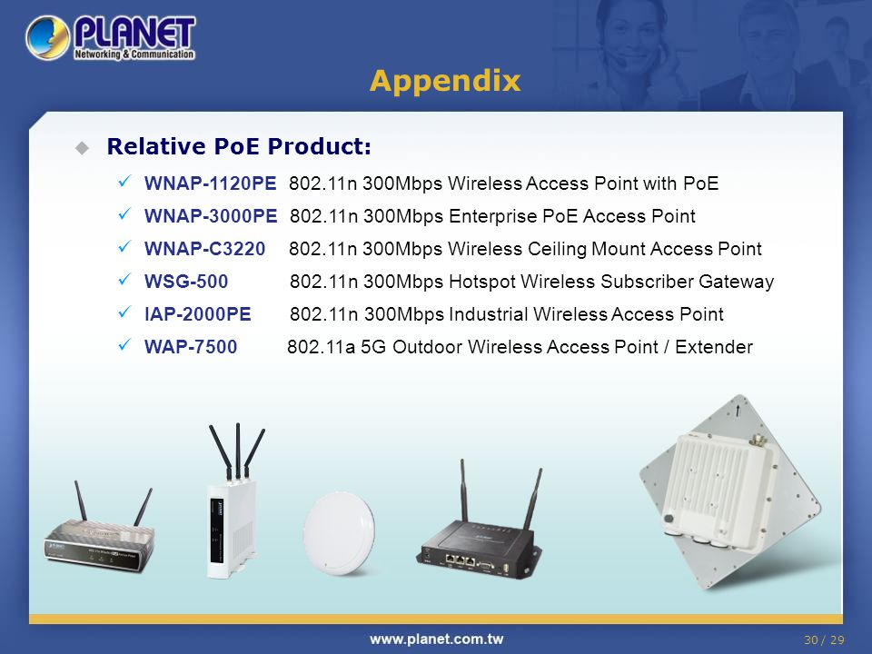 Appendix Relative PoE Product: