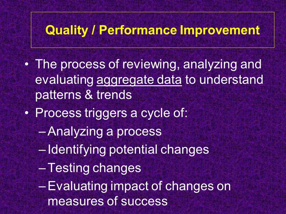 Quality / Performance Improvement