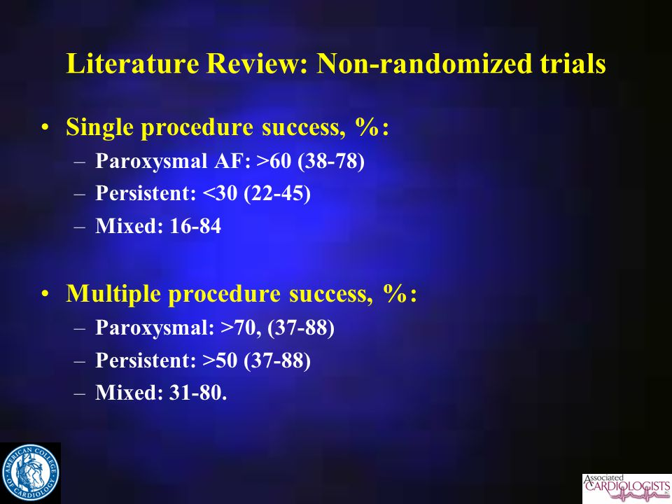 Literature Review: Non-randomized trials