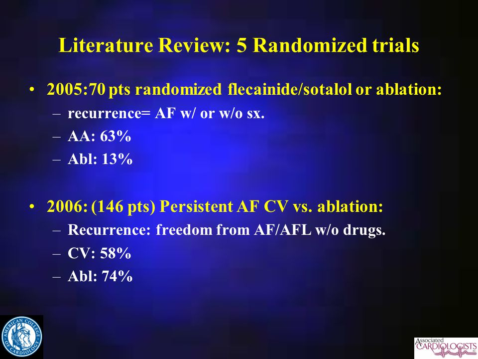 Literature Review: 5 Randomized trials