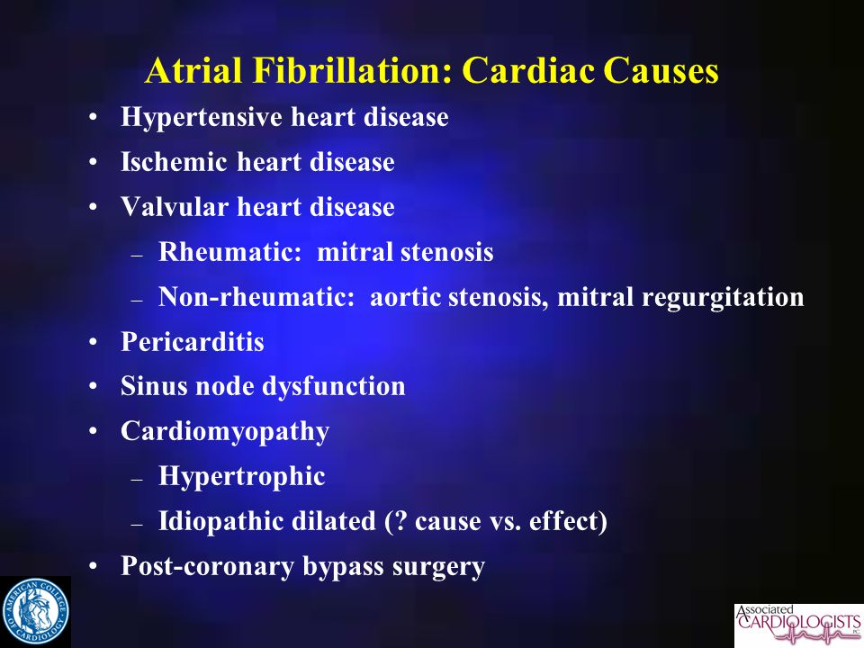Atrial Fibrillation: Cardiac Causes