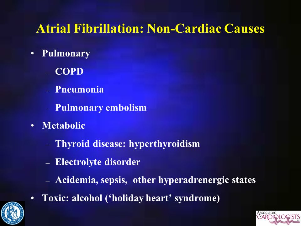 Atrial Fibrillation: Non-Cardiac Causes