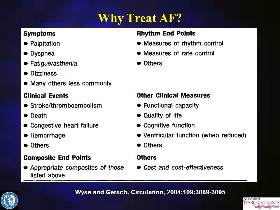 Why Treat AF Wyse and Gersch, Circulation, 2004;109: