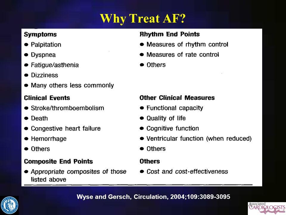 Why Treat AF Wyse and Gersch, Circulation, 2004;109:3089-3095