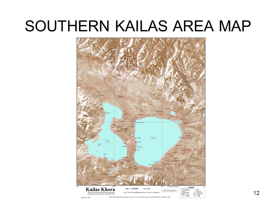 SOUTHERN KAILAS AREA MAP