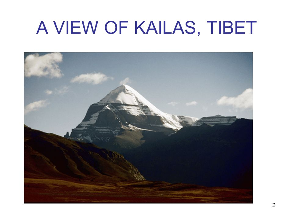 A VIEW OF KAILAS, TIBET