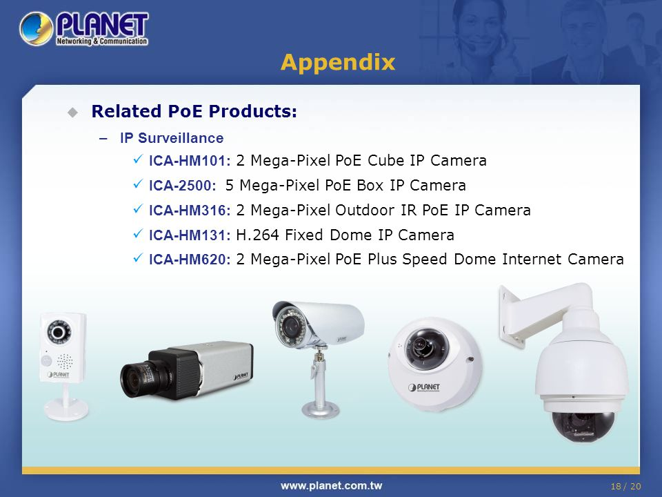 Appendix Related PoE Products: IP Surveillance