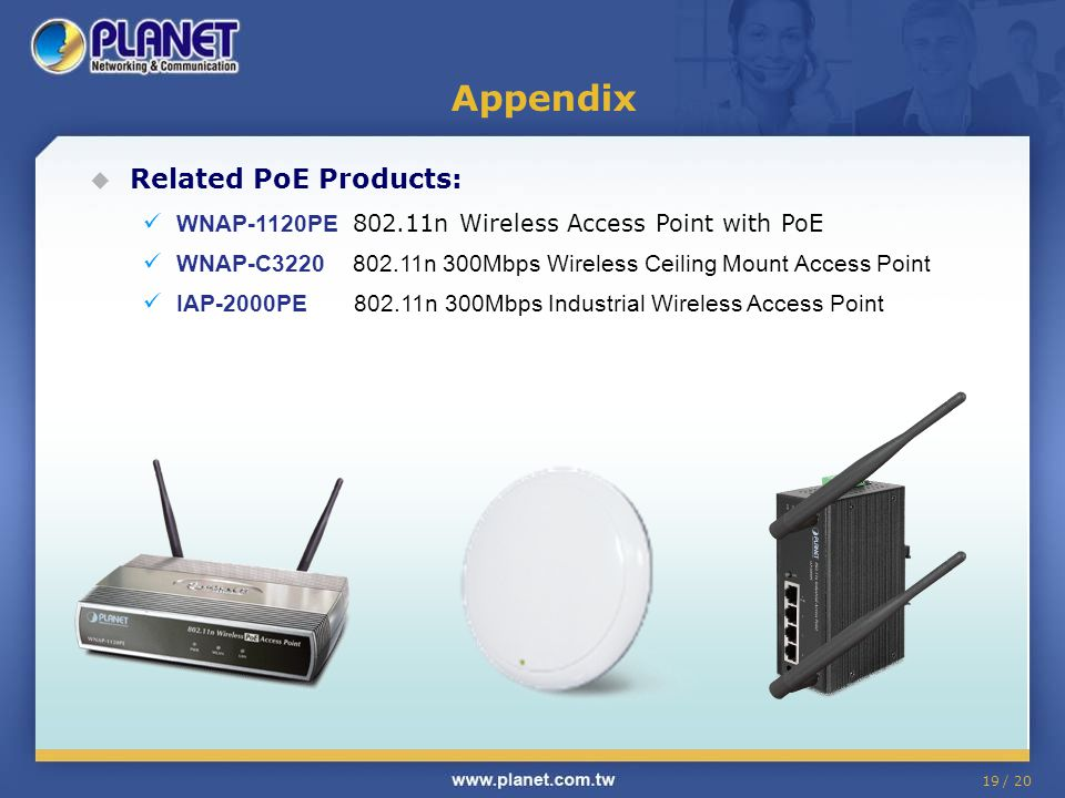 Appendix Related PoE Products: