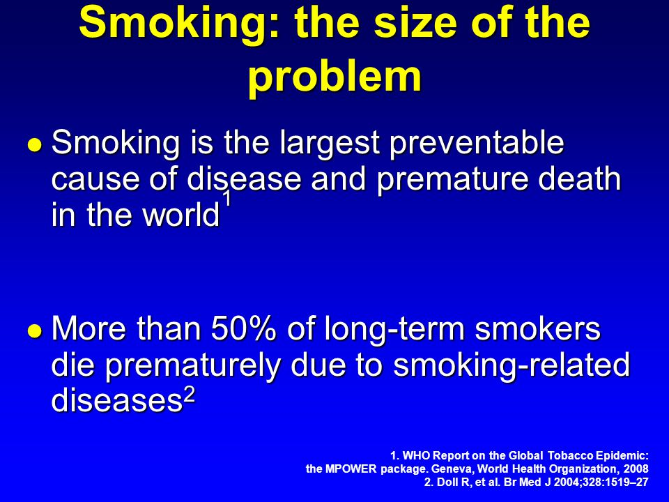 Smoking: the size of the problem