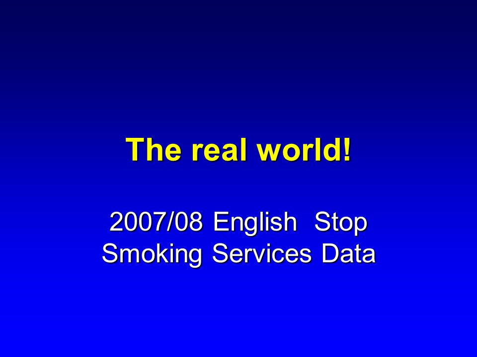2007/08 English Stop Smoking Services Data