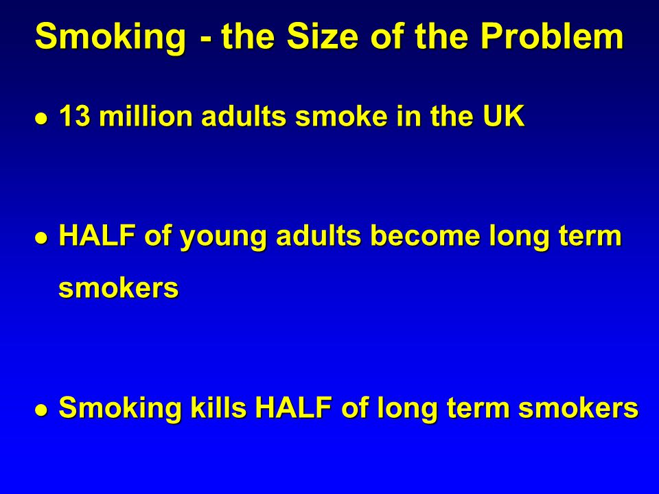 Smoking - the Size of the Problem