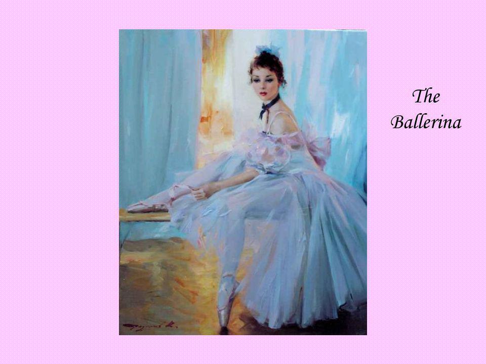 The Ballerina KONSTANTIN RAZUMOV (Born 1974) RUSSIAN The Ballerina . Signed. 55 x 46cms.