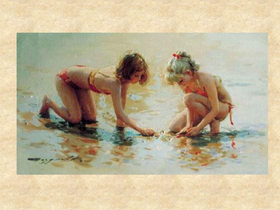http://www.johnnicholsons.com/ve/20041 KONSTANTIN RAZUMOV (Born 1974) RUSSIAN Girls Playing on the Beach